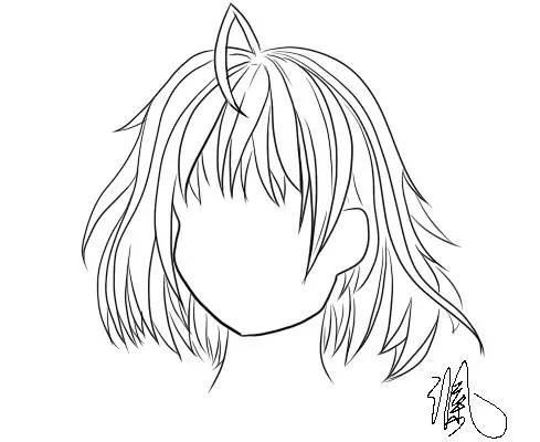 教程 女孩子的头发怎么画