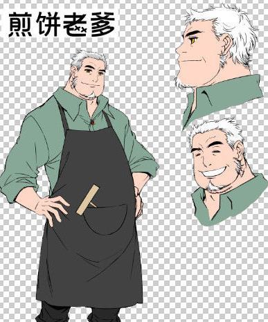 七日之后漫画人物角色:煎饼老爹