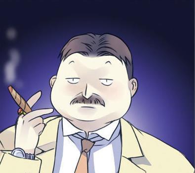 蓝翅漫画人物角色:白俊贵